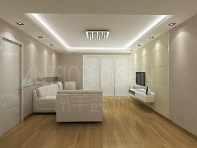 150平米三室两厅装修效果图及施工图