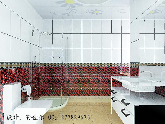 100平米装修效果图和施工图 两室两厅