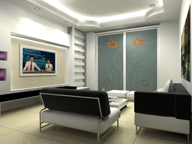 100平米装修效果图和施工图 两室两厅 1300元 k68威