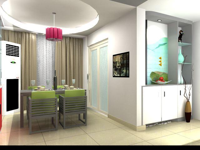 现金100平米装修效果图和施工图 两室两厅