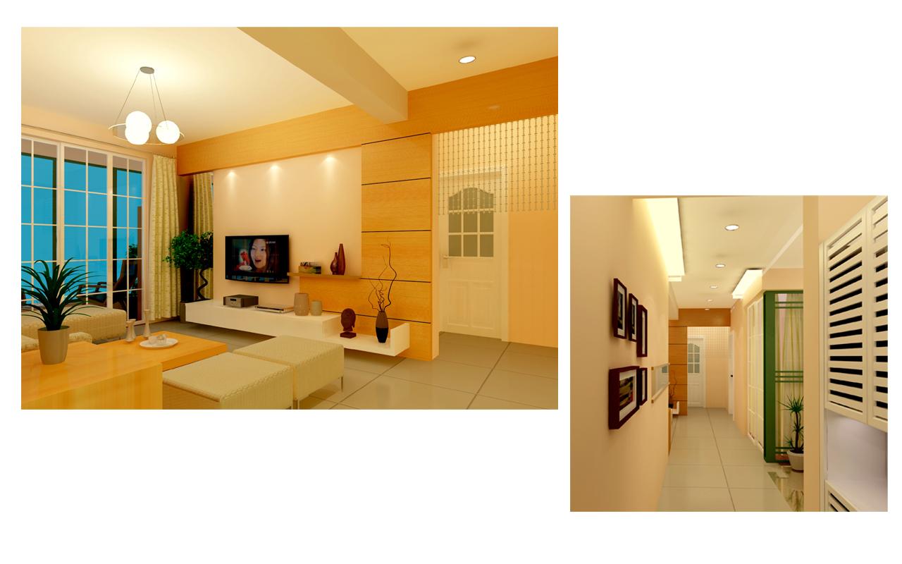 100平米装修效果图和施工图/两室两厅