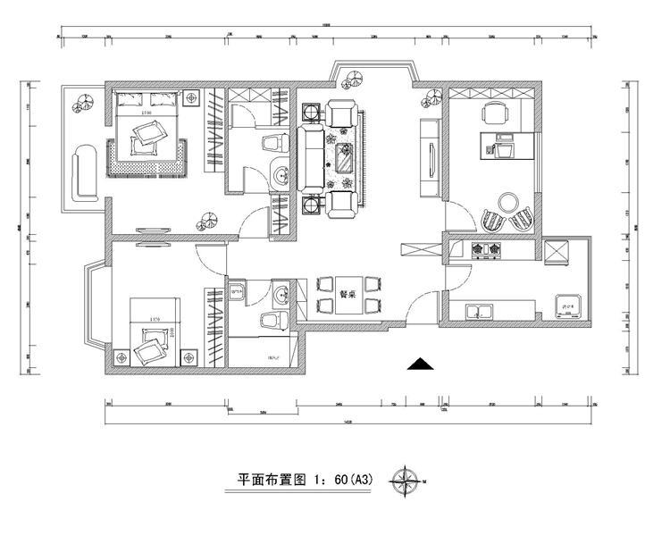 房屋装修平面结构图 200元 K68威客任务