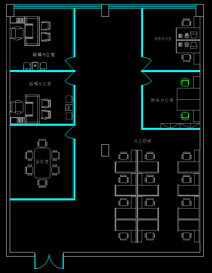 办公室装修平面布置 2478570 k68威客网