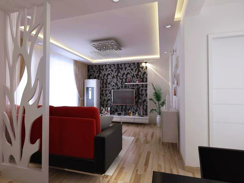 70平米两室两厅 装修 效果图 设计 500元 k68威
