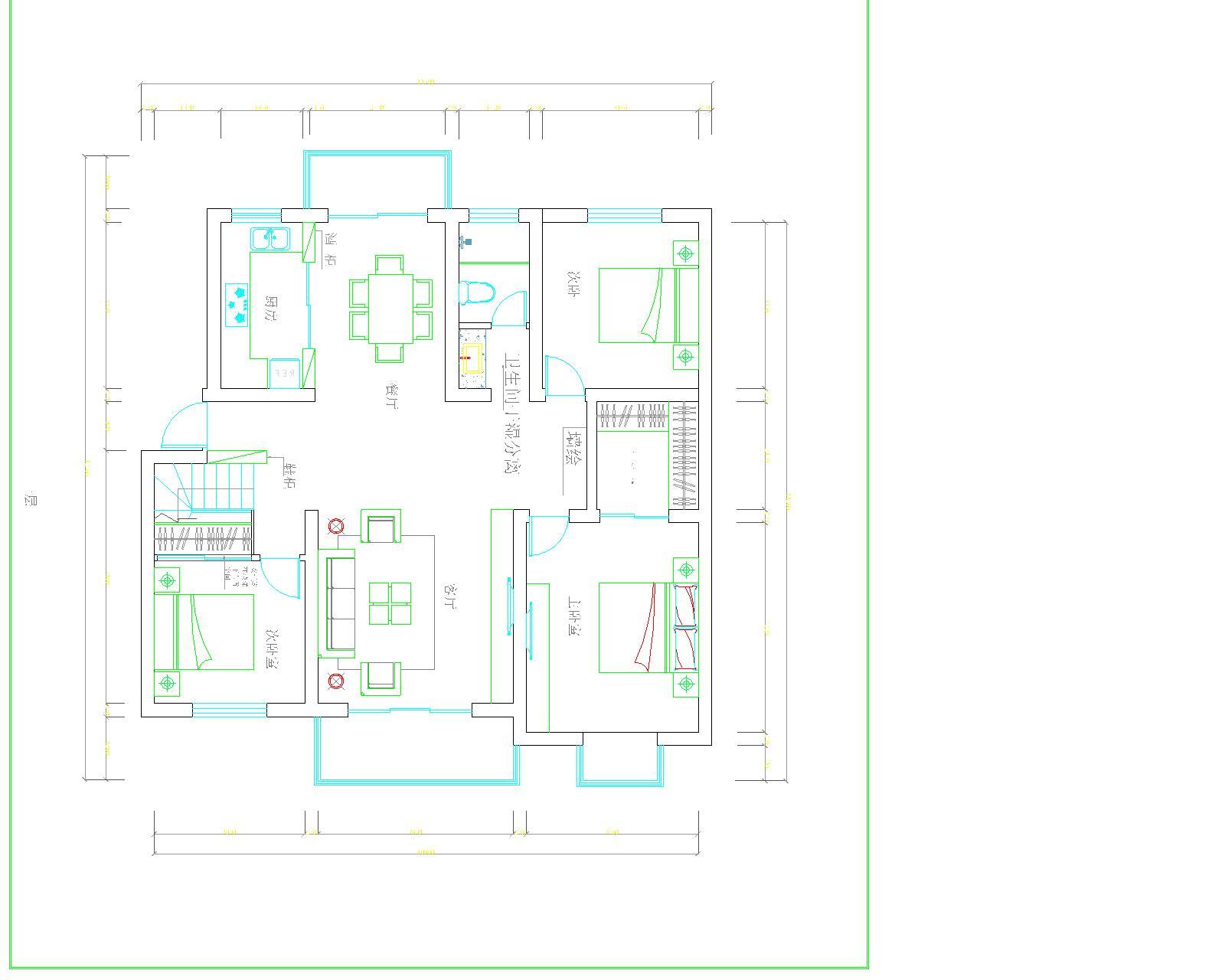 错层房屋平面图