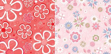 伞面上绣花花型设计