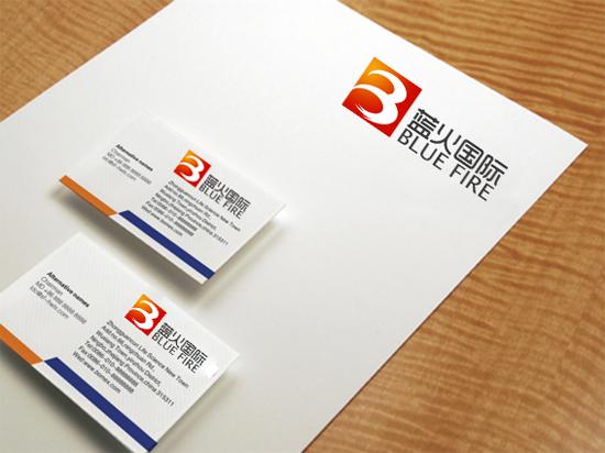 蓝火国际公司logo设计