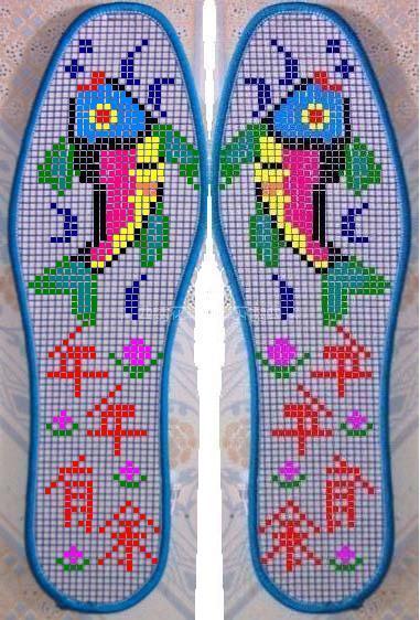 十字绣鞋垫由于面积较小