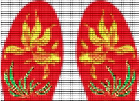 十字绣鞋垫由于