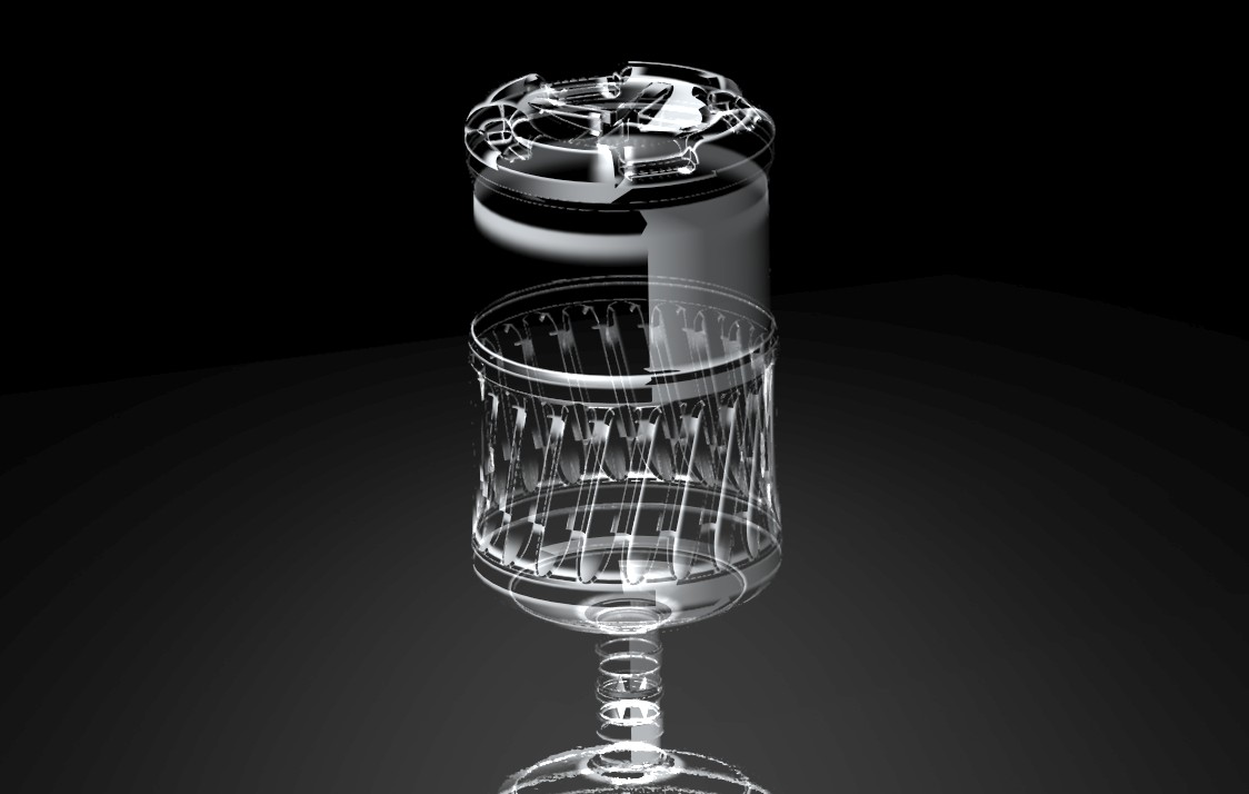矿泉水 5加仑桶的外观造型设计