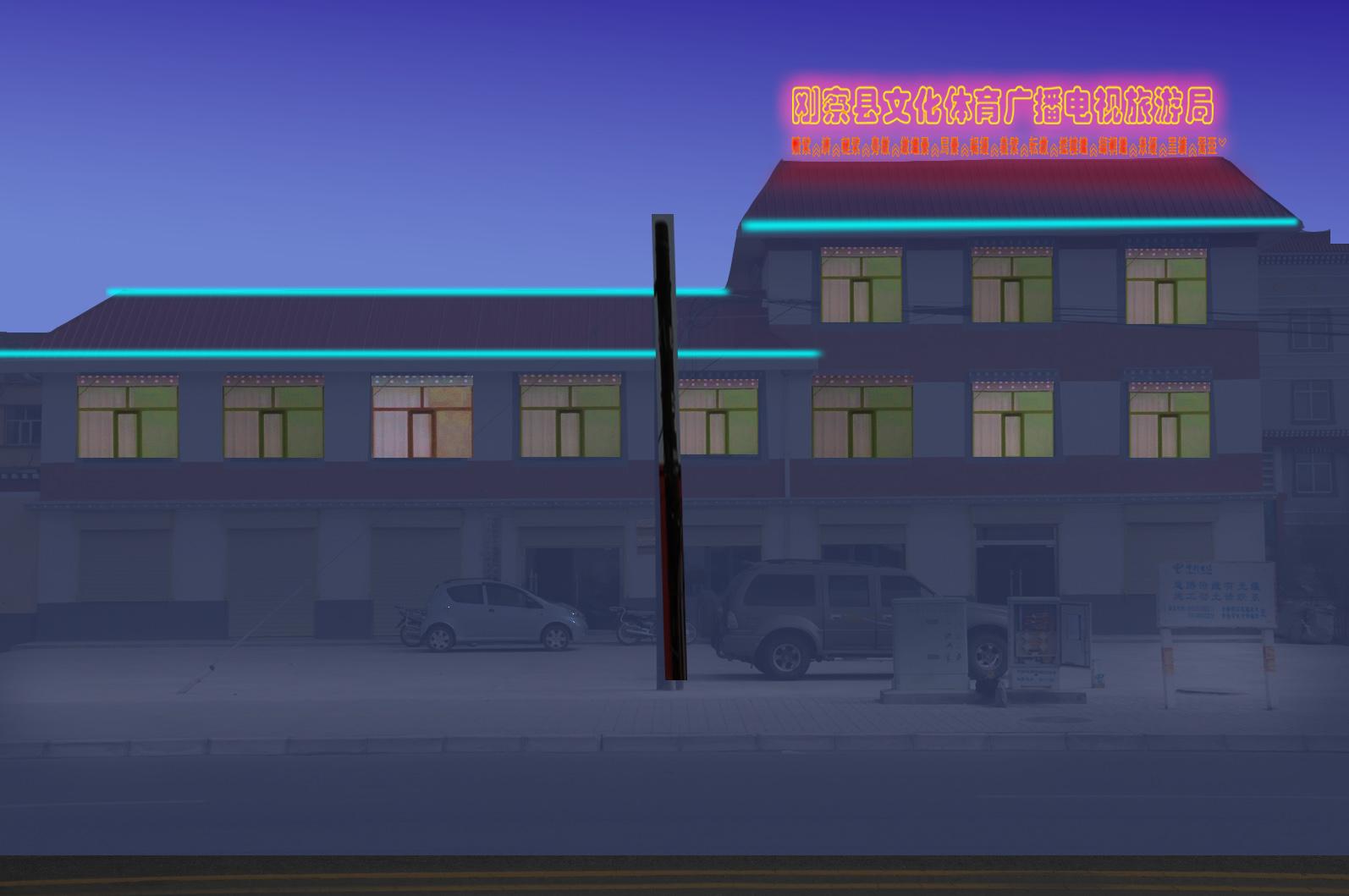 楼体夜间亮化效果图 有藏文附件 2626987 k68威客网