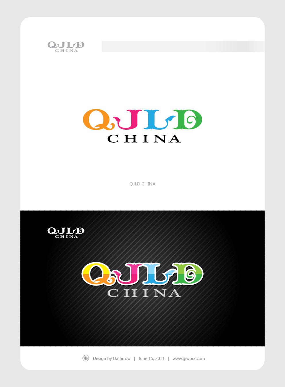 设计 英文/Datarrow QJLD CHINA 英文艺术字