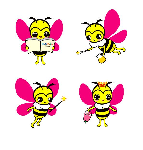 蜜蜂卡通简笔_卡通小蜜蜂简笔画图片