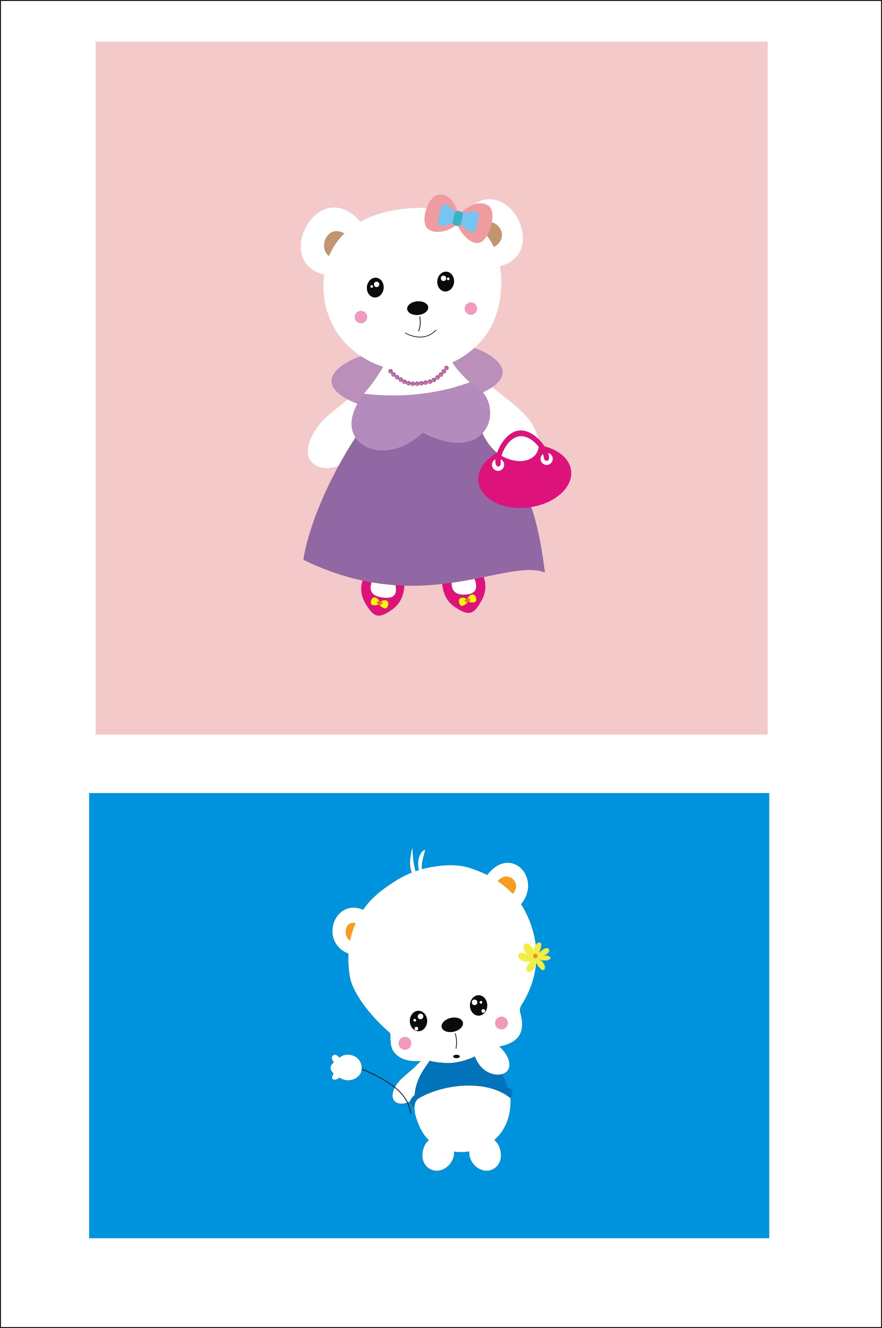 先做了熊猫宝宝和妈妈,熊猫爸爸还在设计制作中.