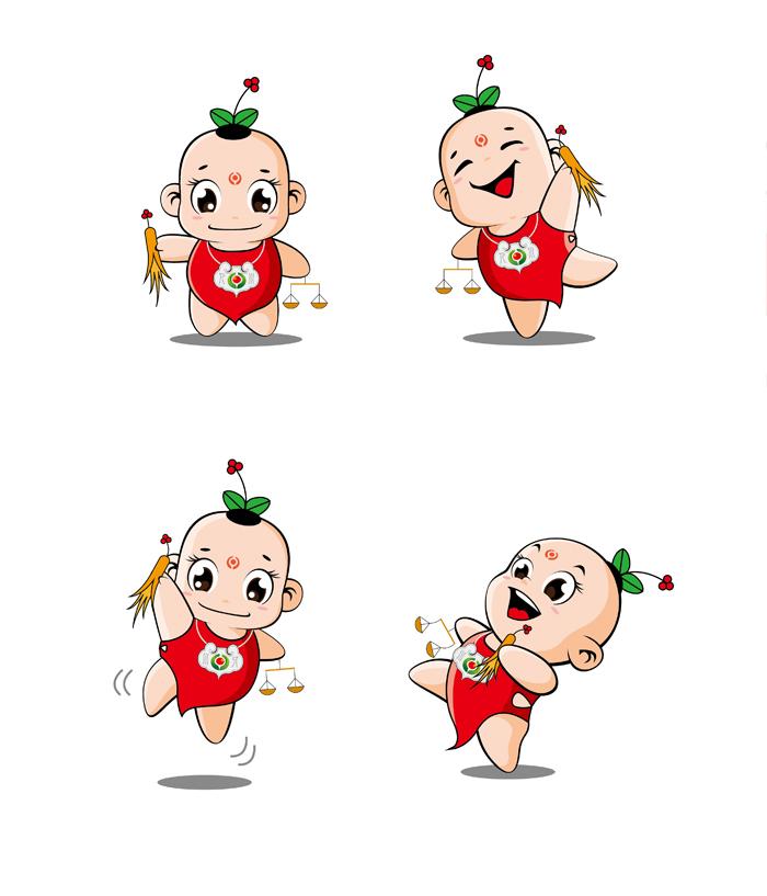 赤峰人川大药房连锁有限公司设计企业吉祥物图片