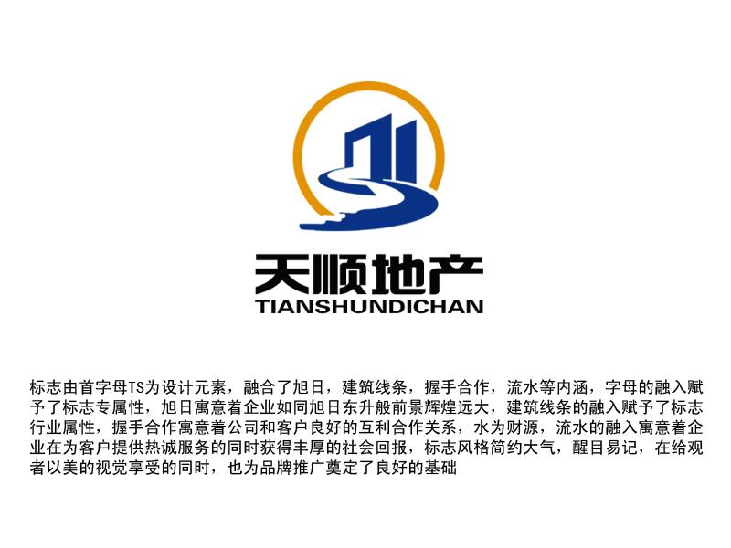 深圳市天顺房地产经纪有限公司logo及名片设计