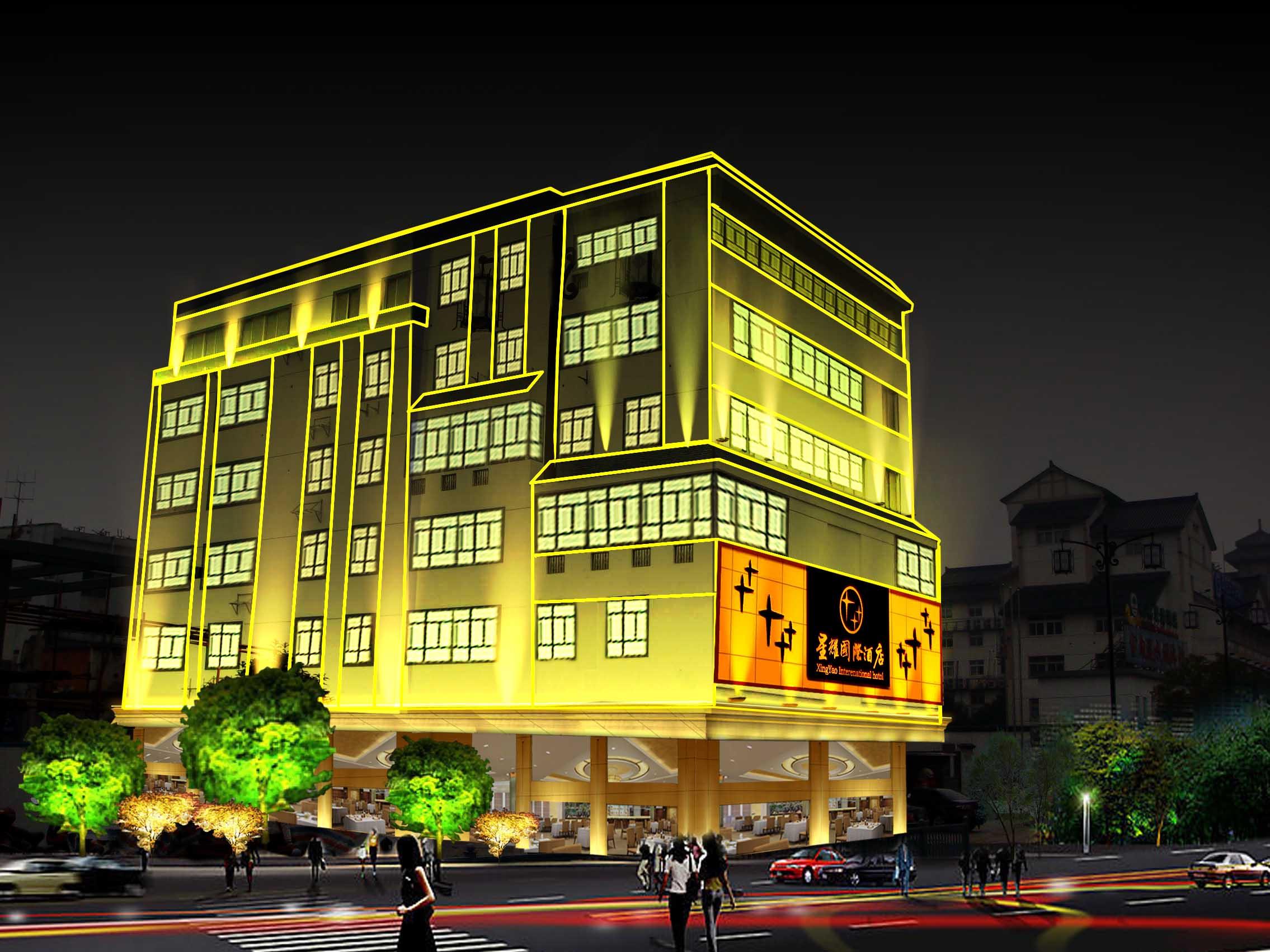 星耀国际酒店门头效果图设计