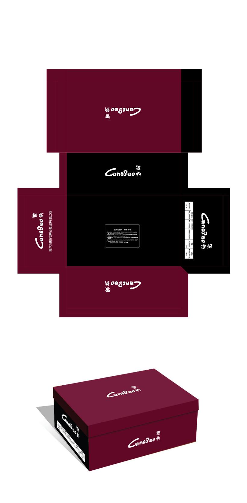 高档男士休闲鞋包装盒设计图片