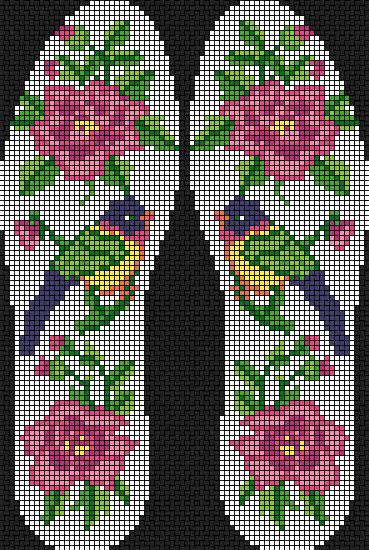 十字绣鞋垫,文字可以一边两个,也可一边四个,素材与主题具有关联性,十